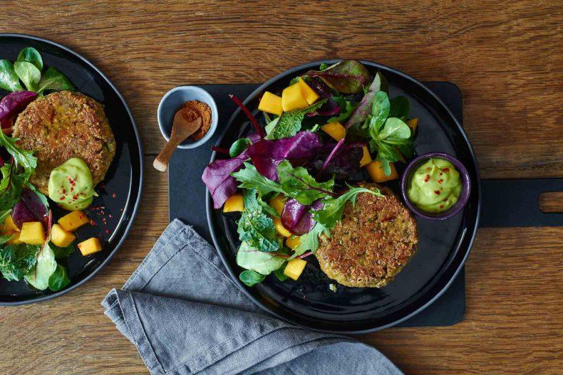 Burger vegetarian cu nuci și Ras el Hanout