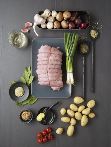 Cotlet de porc cu verdețuri à la Provence, fenicul și foi de dafin