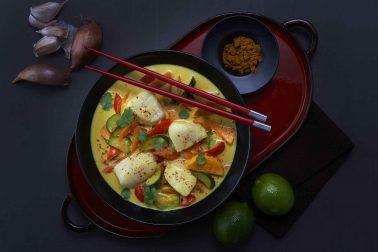 File de cod în sos de curry