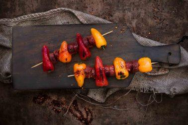Frigărui cu Chorizo și ardei la grătar
