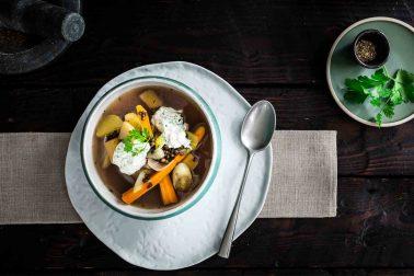 Supă de legume cu linte